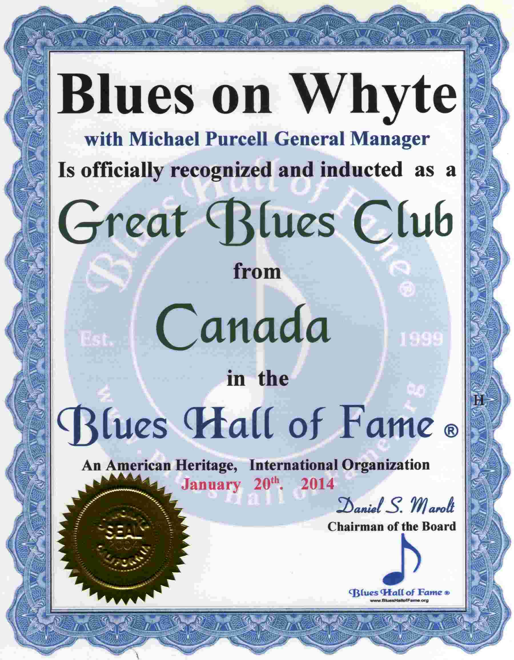 blues hall of fame great blues bars of canada includes. Black Bedroom Furniture Sets. Home Design Ideas