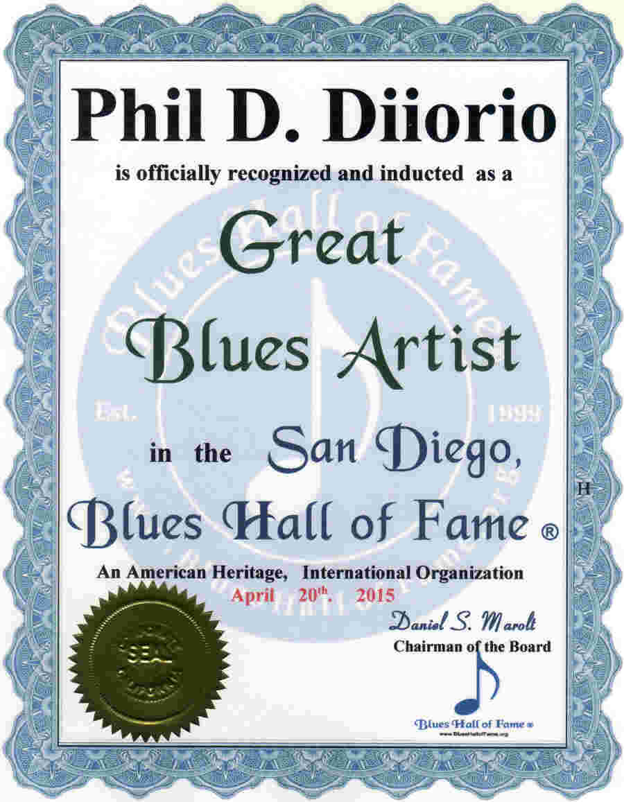 San Diego, Blues Hall of Fame ® inducted Blues Artists
