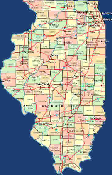 county maps of illinois. 2011 Illinois State County Map